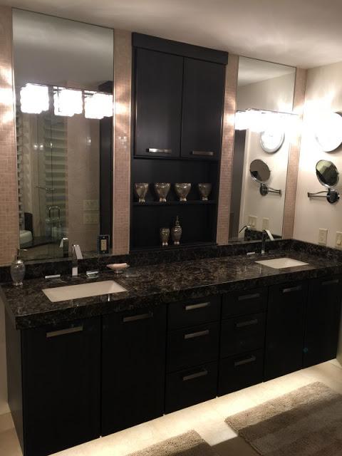 1 New Design Inc Modern Espresso bathroom
