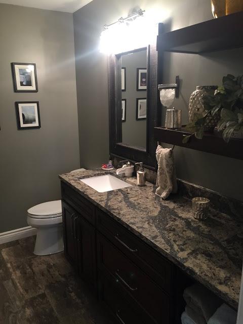 1 New Design inc custom bathroom wood and subway tile Genesee county