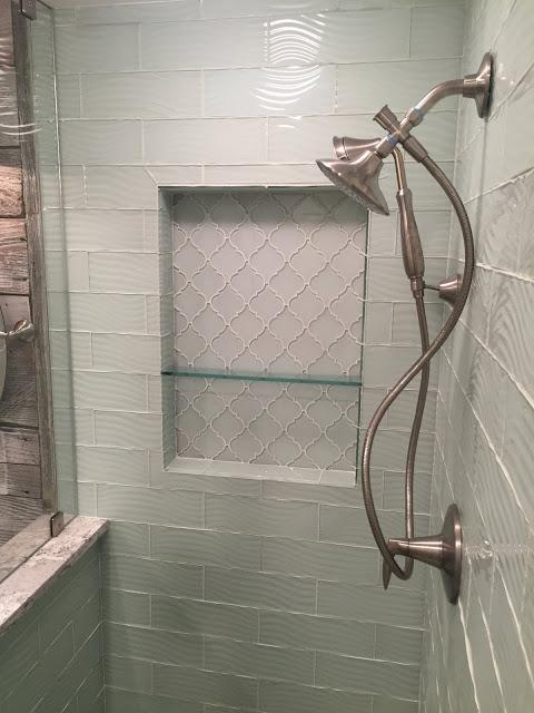 13 New Design inc custom bathroom wood and subway tile Genesee county