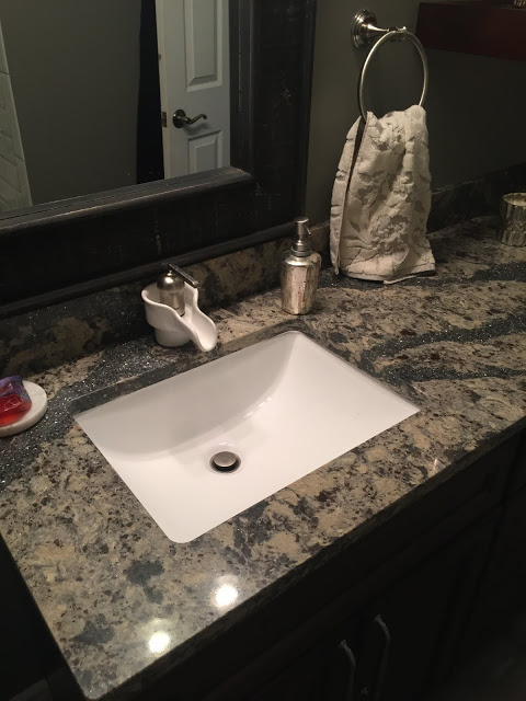 3 New Design inc custom bathroom wood and subway tile Genesee county