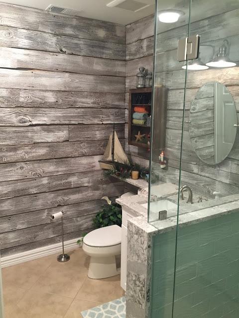 9 New Design inc custom bathroom wood and subway tile Genesee county